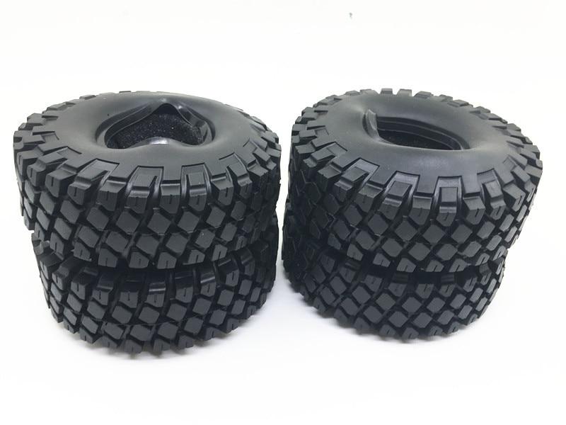 114mm 1.9'' Rubber Rocks Tyres / Wheel Tires for 1.9 Inch 1:10 RC Rock Crawler Wheels SCX10 RC4WD D90 Black 4pcs rc rock crawler 1 9 inch 98mm tires for 1 10 rc crawler car tamiya d90 scx10 cc01 1 9 inch wheels