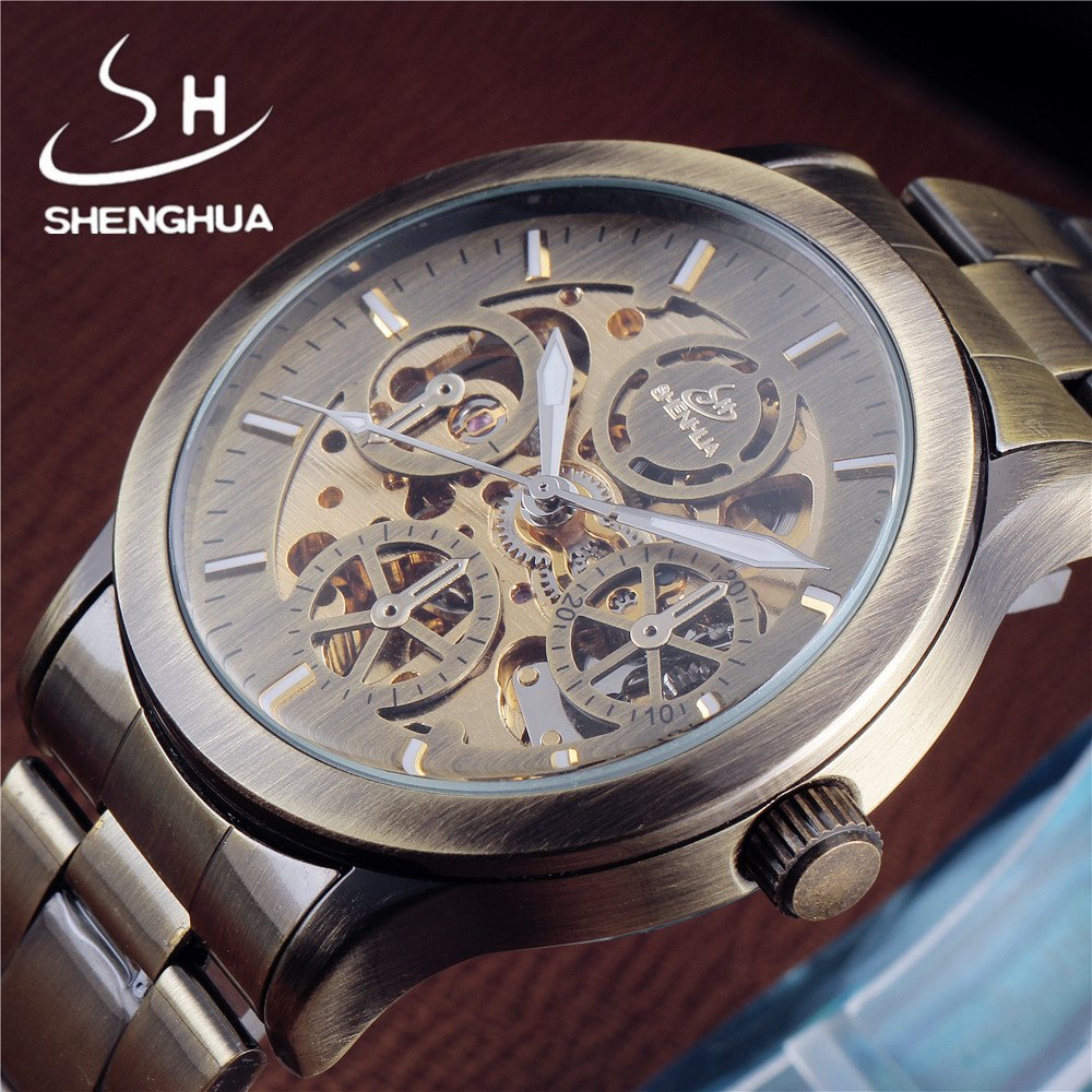 ̿̿̿(•̪ )Etiquetas de marca Shenhua Relojes automáticos hombres moda ...