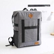 Изоляционная сумка для пикника, вместительный тоут для сохранения свежести продуктов, вина, термос на молнии, аксессуары для рюкзака