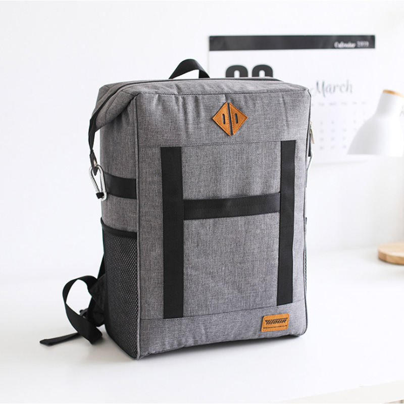 Large Capacity Insulation Bag Picnic Cooler Tote Food Fresh Keeping Wine Lunch Package Bottle Thermal Zip Backpack Accessories image