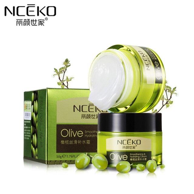 NCEKO Olive Face Cream Smoothening Moisturizing Hydrating Nourish Face Skin Care Anti Wrinkle Aging Whitening Brightening Creams