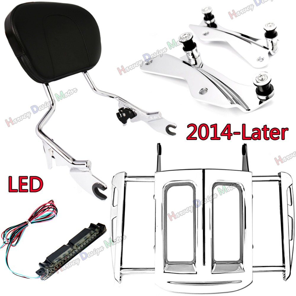 4Point Hardware Kit&Adjustable Two-Up Luggage Rack&Sissy Bar Backrest Harley Street Glide Road King 2014 2015 2016 2017 2018 модуль hpe rack hardware kit h6j85a