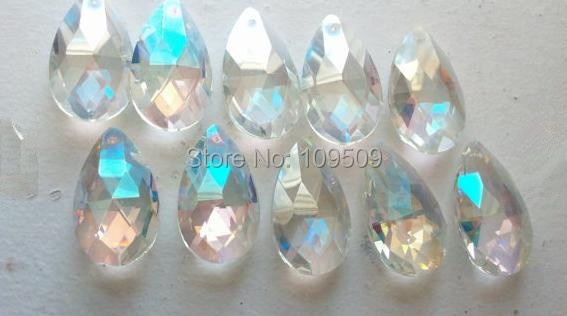 Pc Chandelier Crystals Mm Teardrop Crystal AB Ornaments Shabby - Chandelier crystals teardrop