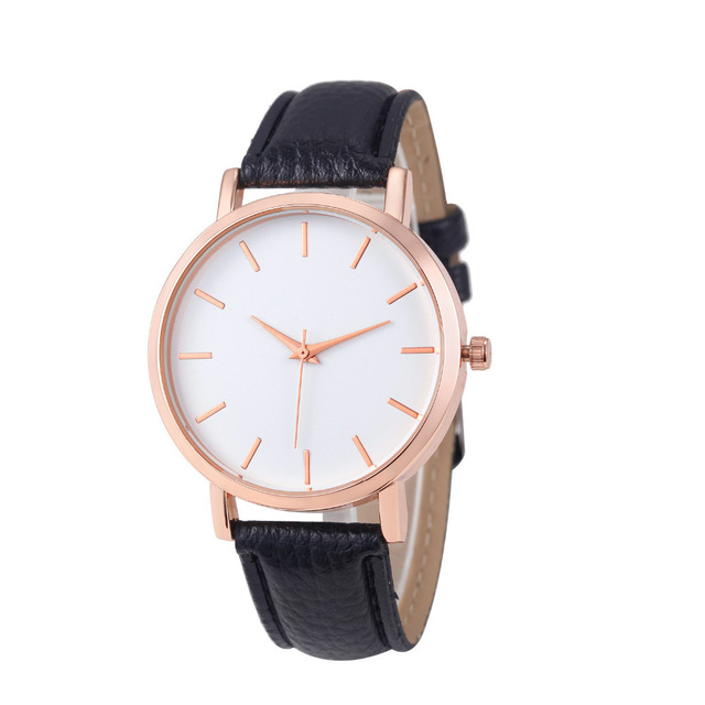 Dropshipping Hot Fashion Unisex Leather Stainless Men's Watch Wholesale Quartz W