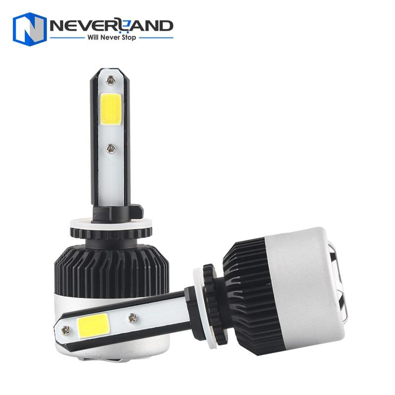 ФОТО 1Pair 880 72W 9000LM 6500K COB LED Car Automotive Headlight Kit Fog Lamp Bulb DRL Xenon White Play & Plug