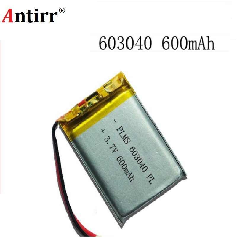 Energii baterii 3.7V akumulator litowo-polimerowy 600mAh 063040 nawigacja gps MP3 głośnik Bluetooth 603040