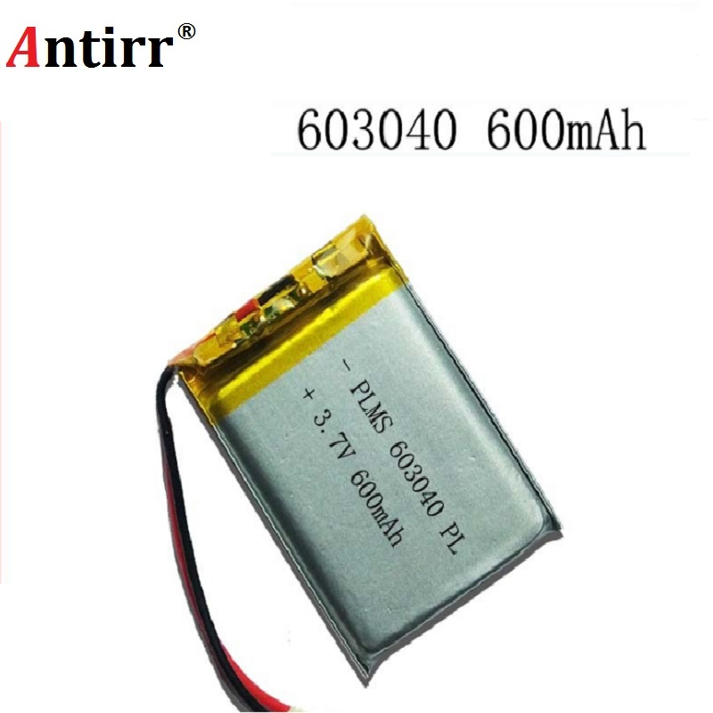 Energy Battery 3.7V Lithium Polymer Rechargeable Battery 600mAh 063040 GPS Navigator MP3 Bluetooth Speaker 603040