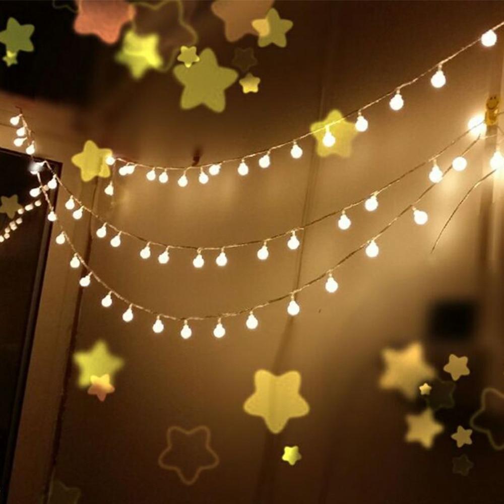 New! IP64 10M 100LED LED Ball String Light Christmas Festival Lamp Decorative Garland Strings Lighting Ball Lights 110V US Plug