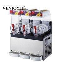 Commercial 3 Tank Frozen Drink Slush Slushy Making Machine Smoothie Maker