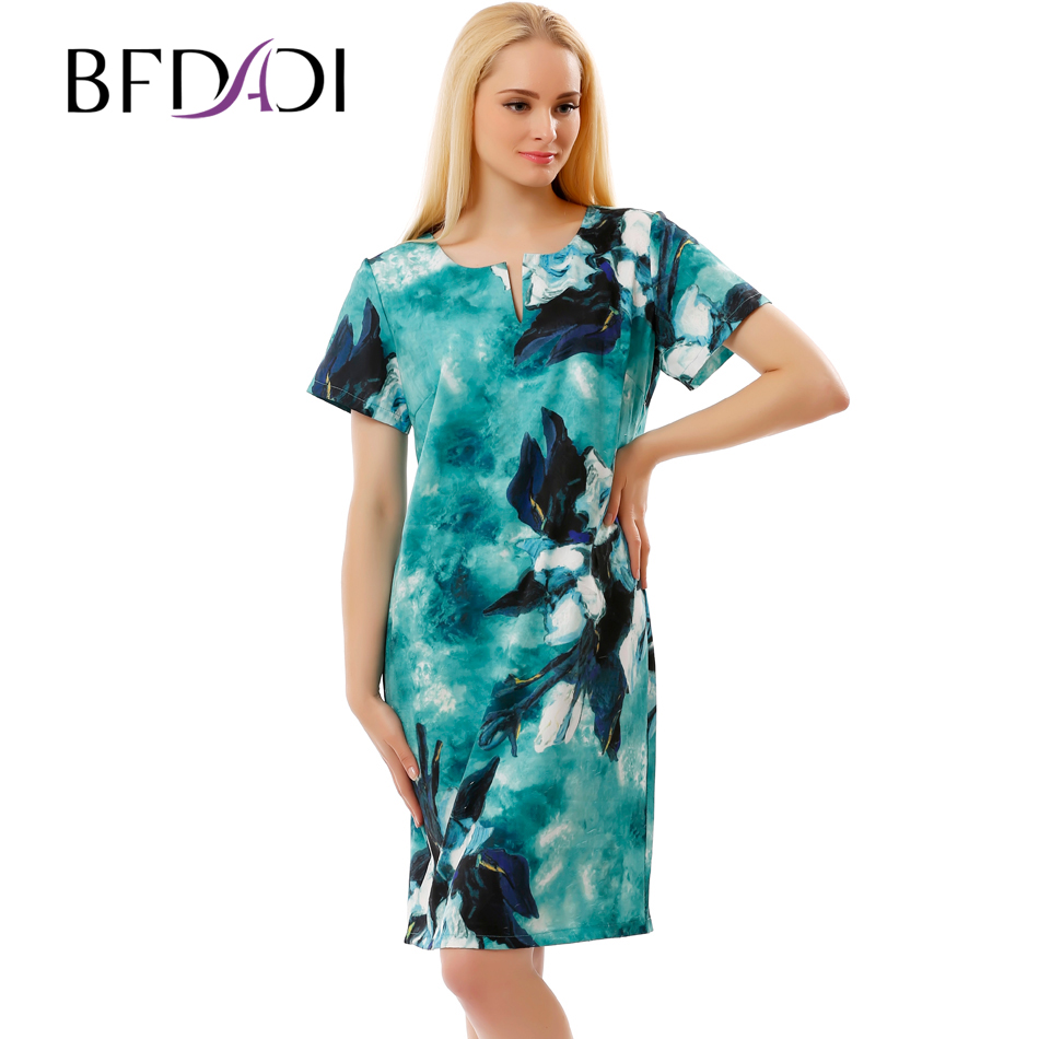 BFDADI 2017 New Elegant Dresses For Women Summer Ladies ...