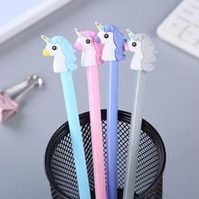 Pluma de Jonvon Satone de Gel con diseño de unicornio para estudiantes, pluma de escritura creativa coreana, plumas neutrales, dibujos animados, oficina, material escolar, venta al por mayor