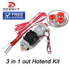 3DSWAY 3D Printer Parts 3 in 1 out Multi-color Extruder Hotend Kit NF THC-01 Three Colors Switching for 0.4mm 1.75mm
