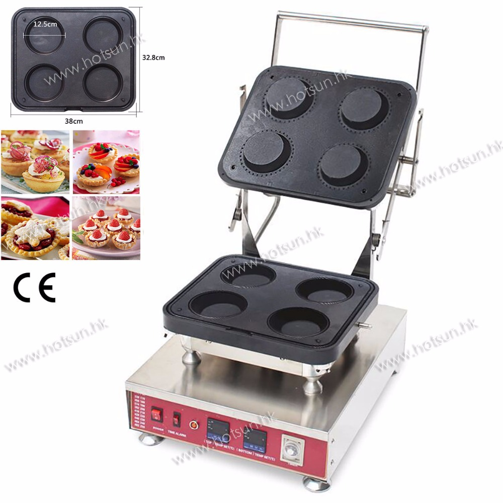 304 Stainless Steel Professional Non-stick 110V 220V Electric Ice Cream Corn Tart Waffle Bowl Maker Machine with Removable Plate