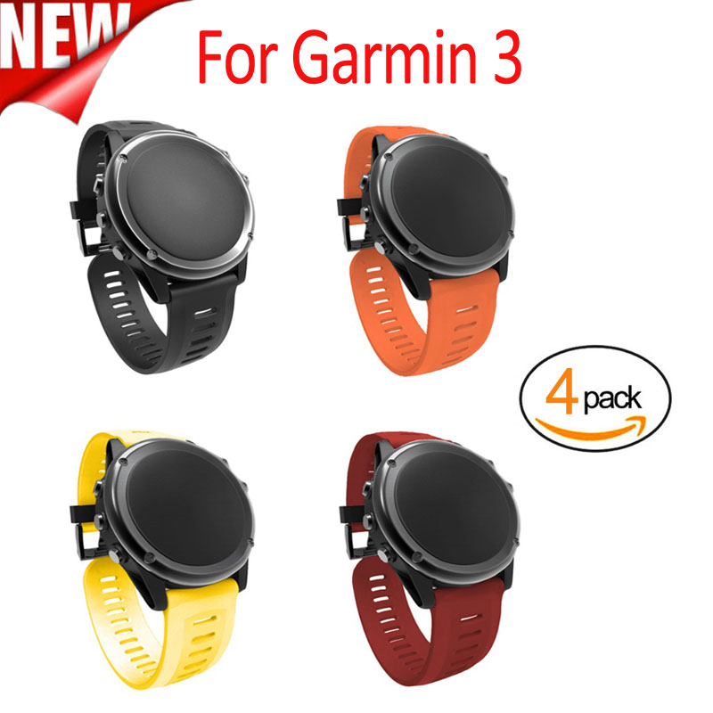 26mm Width Outdoor Sport Silicone Strap- Pack of 8pcs /4pcs Watchband for Garmin Fenix 3/Fenix 3R/Fenix 5X Silicone  Band 8 in 1 sport pack for ps3 move motion control sport games