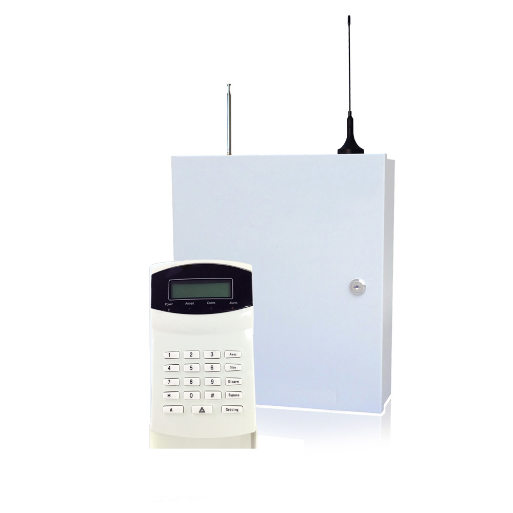 Home security self-defense PSTN GSM SMS Alarm system 315/433MHz 16 wire and wireless zones LCD keypad burglar alarm купить