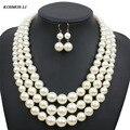 Imitar de múltiples Collar de Perlas Declaración de La Nueva Manera De Plástico Grano de La Perla Joyería Del Partido Para Las Mujeres Collares 6410