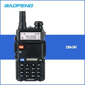 Image 1 - 2 PCS Baofeng DM 5R Digital Walkie Talkie Ham CB VHF UHF DMR Radio Station Double Dual Band Transceiver Boafeng Scanner Amador