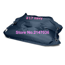 Navy blue Outdoor ramak bean bag furniture, living room two seat bean bag sofa, safety belts beanbag kpecno seat