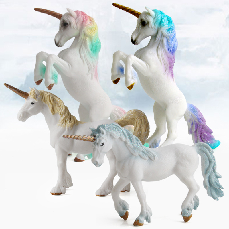 Collectible Toys Myth Unicorn Flying Horse Fairy Tale Mythical Animal Model <font><b>Figure</b></font> Series Educational Toys Girl Gift For Kids image
