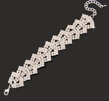 elegant Bridal Jewelry Wedding party Accessories Bridal Bling Bracelet Wrist Band Jb086