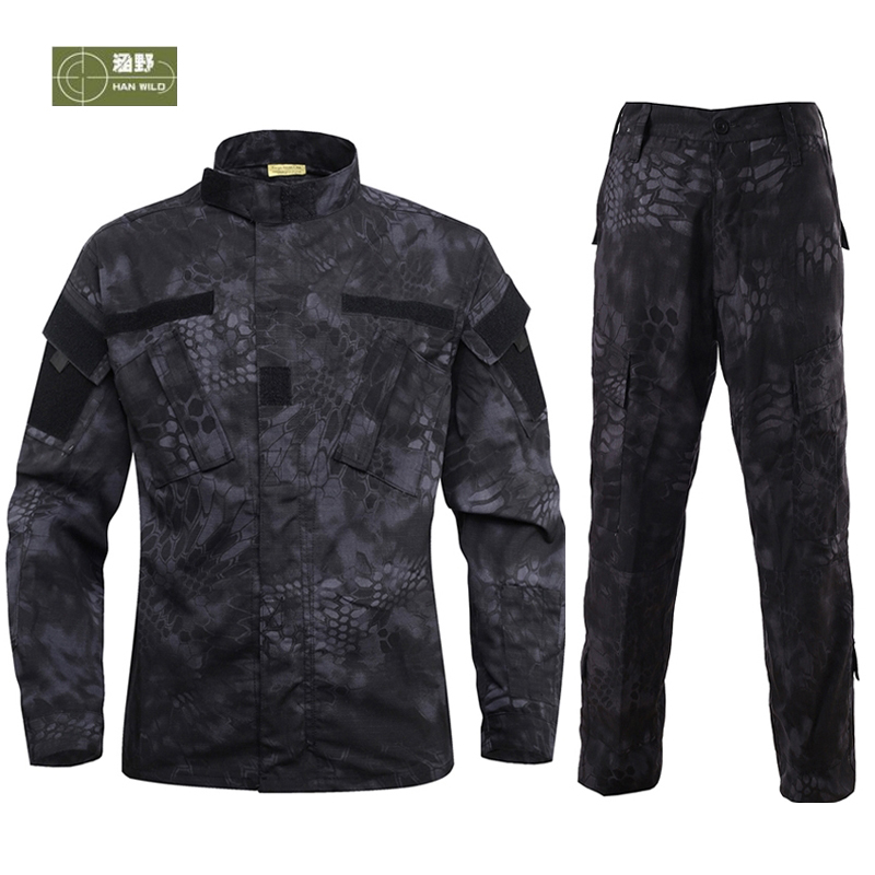 HANWILD Man CS Tactical Jackets Army Military Combat Trousers Training Pants War Game camouflage Wear resisting