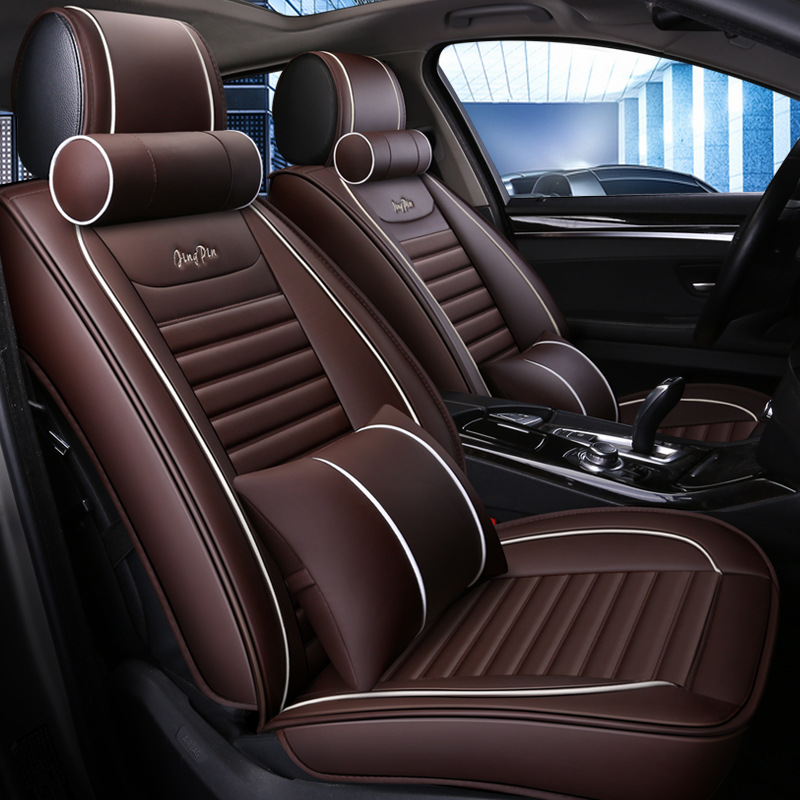 LUNDA Universal PU Leather Car Seat Covers For BMW 3 5 7