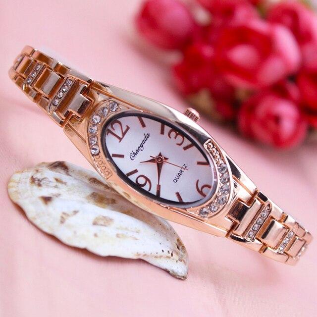 2018 stainless steel strap women luxury fanshion watch rose gold dress diamond f