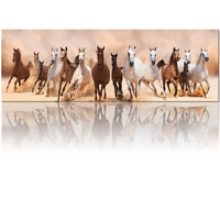 Wholesale Canvas for Photo Running Horse Animal Printing Canvas Print Painting For Modern Living Room Decor (Unframed) 50x150cm