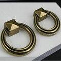 Puxadores de móveis de estilo vintage anéis gota bronze puxadores de gaveta porta do armário cômoda lida com botões de bronze antigo Retro