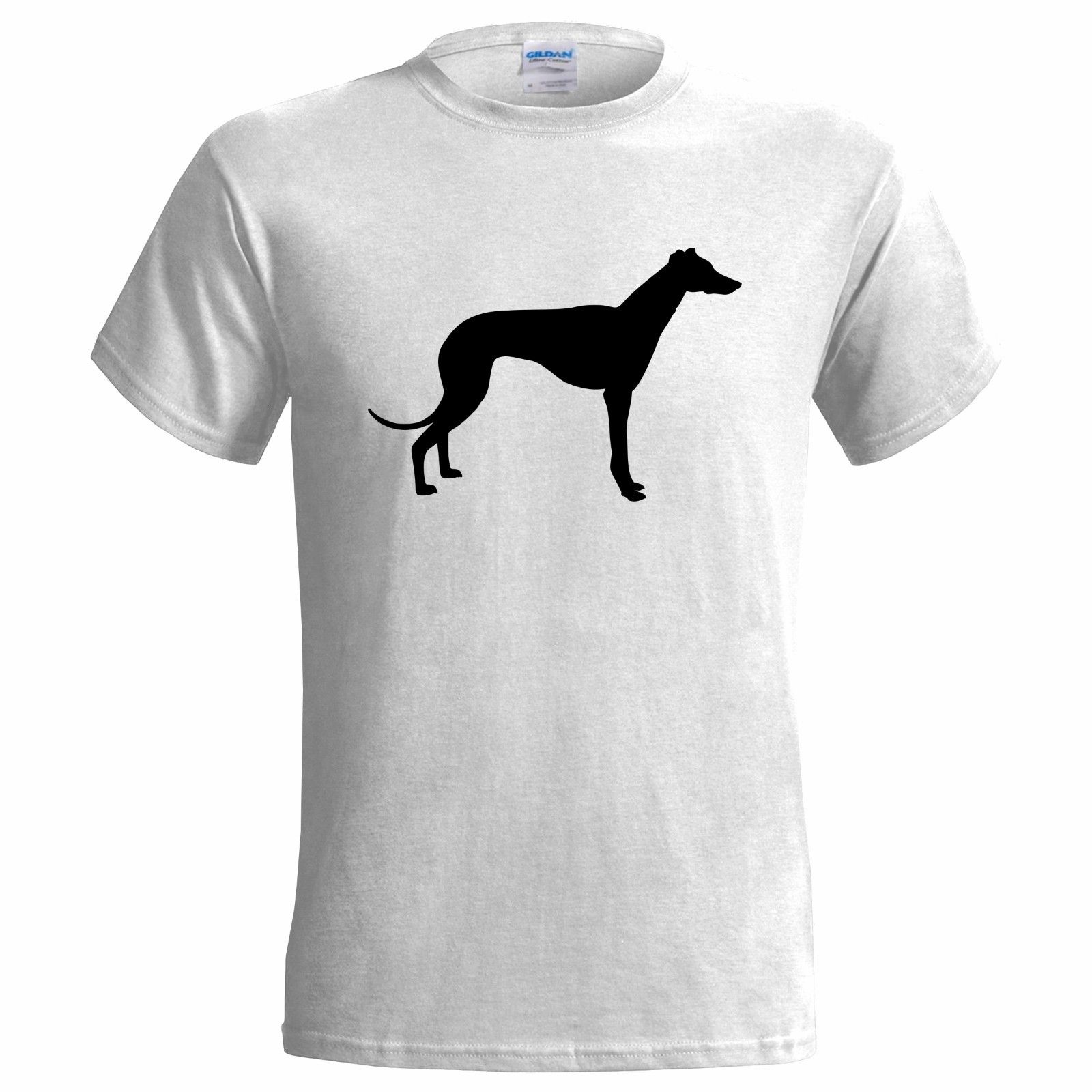 GREYHOUND <font><b>DOG</b></font> SILHOUETTE MENS T SHIRT PET CANINE PRESENT <font><b>ART</b></font> ANIMAL HOUND Cartoon t shirt men Unisex New Fashion <font><b>tshirt</b></font> Loose image