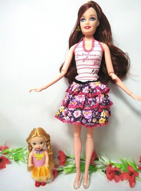 2 pcs lot indah barbie boneka dan boneka kecil yang lucu kelly 2016 fashion  toys 58d0c0bd85