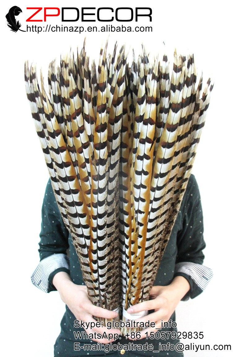 Zpdecor 50 개/몫 60 70 cm (24 28 inch) 최고 품질의 자연 리브스 venery 꿩 꼬리 깃털 카니발 디자인 장식-에서깃털부터 홈 & 가든 의  그룹 2