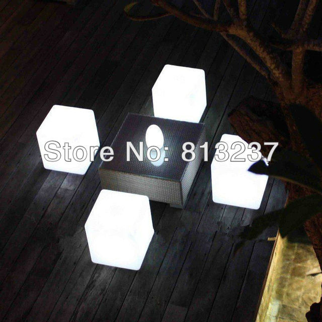 RGB Color Change Waterproof LED Cube Chair/led Cube Light 20x20x20cm