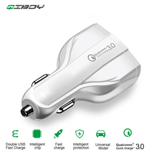 цена на Car Dual USB Charger PD Fast Charging Adapter Quick Charge 3.0 With Type C USB Mobile Phone Car Charger For Xiaomi 9 Huawei P30