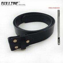 Bullzine, высокое качество, первый слой, Воловья кожа, ремень из натуральной кожи для мужчин, черный и коричневый цвет, ширина 3,8 см, Прямая поставка