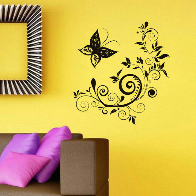 Aliexpress.com : Buy Modern Style Home Decorative Wall Sticker Black ...
