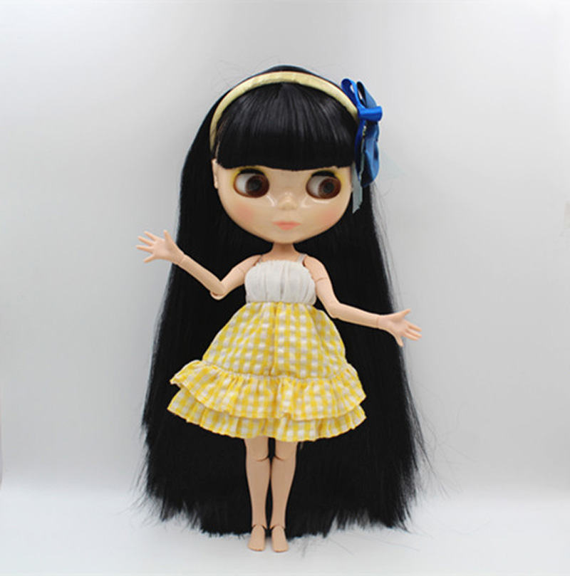 Free Shipping BJD joint RBL-368J DIY Nude Blyth doll birthday gift for girl 4 colour big eyes dolls with beautiful Hair cute toy цены