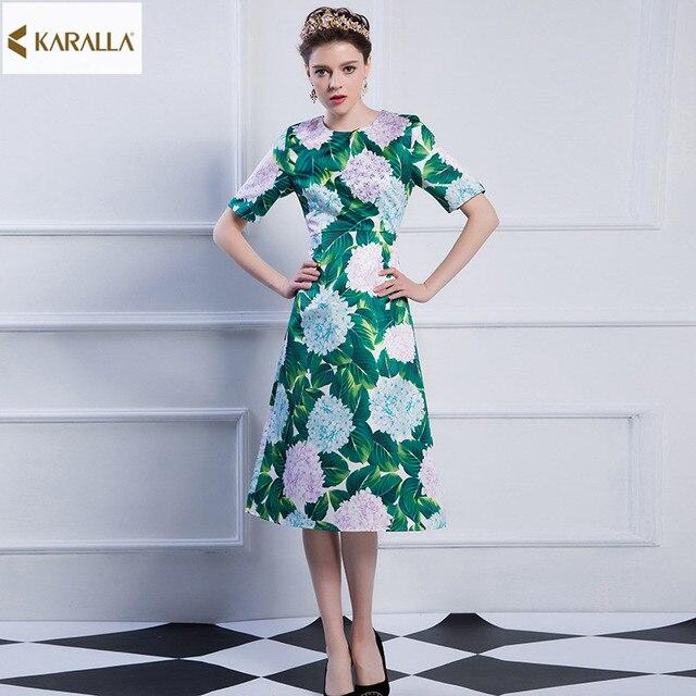 2017 vrouwen lente runway fashion lange mouwen dress literatuur en kunst elegante fatsoenlijke handgemaakte kralen pretty cute dress d0507