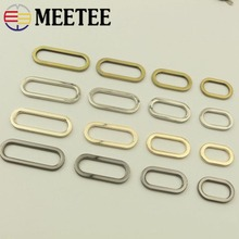 Meetee 5pcs 19/25/32/38MM O Ring Buckle Adjustable Bag Belt Plating Oval Luggage Hardware DIY Decoration Accessories AP614