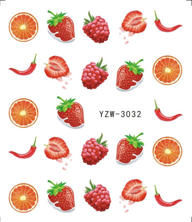 Sweet Fruit Nail Art Water Transfer Sticker Nail Decorations Sets Women Makeup DIY Beauty Tattoos Tools