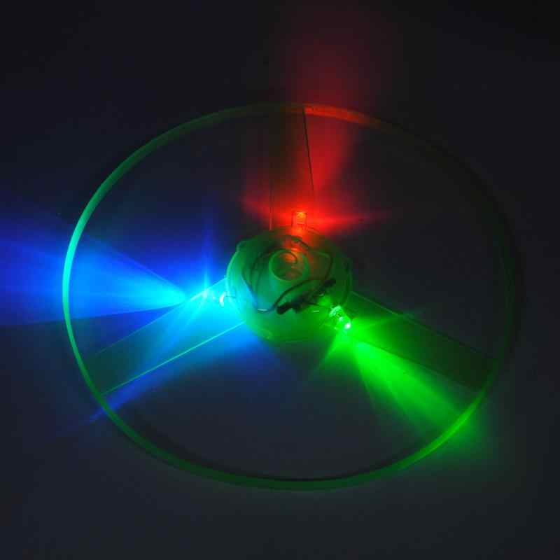 Funny Outdoor Toy Boomerangs Flying Saucer Helicopter Spin Disk Flight LED Toys