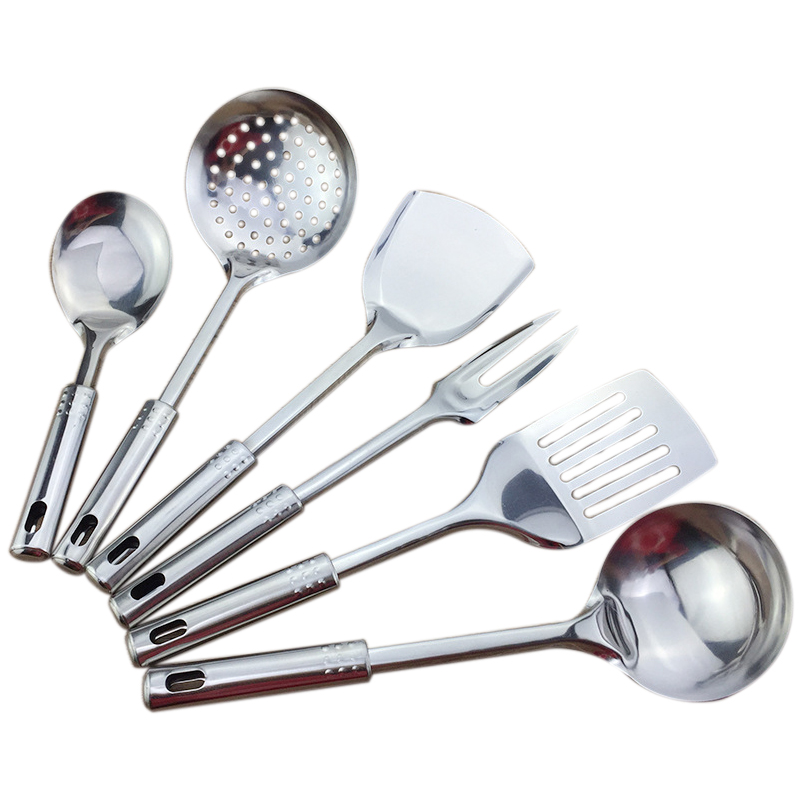 US $9.14 23% OFF|6 piece kitchen utensil set stainless steel kitchen  cooking tools high grade kitchen utensils kitchen accessories porridg-in  Cooking ...