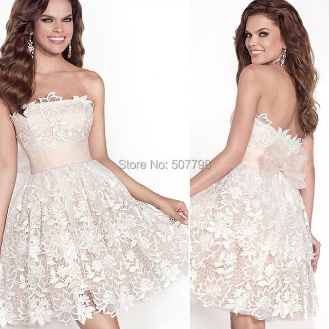 knee length glamorous prom dress