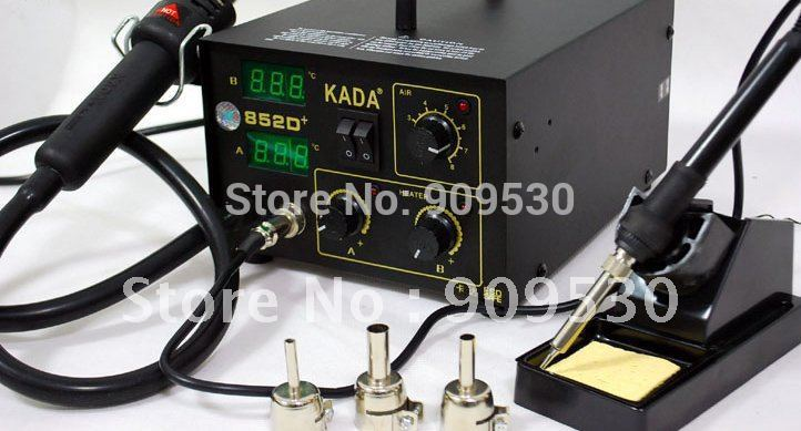 kada soldering station kada 852d + rework station Dual Digital Display Hot Air Gun Solde Iron Soldering Station For Welding