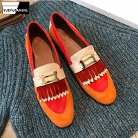 Top Quality Womens Shoes Genuine Cow Leather Womens Flats Shoes 2019 New Spring Casual Shoes Slip On Womens Loafers Moccasin