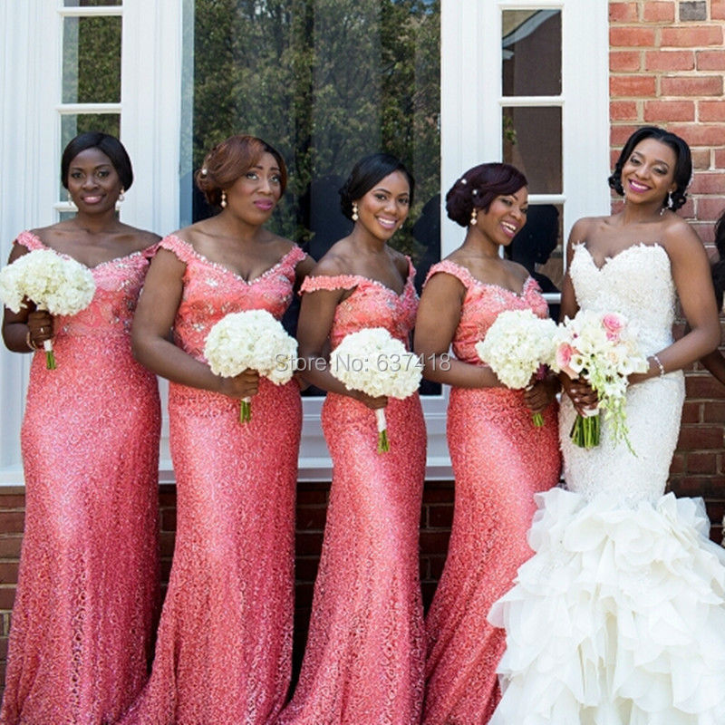 Pink Sequin Bridesmaid Dress