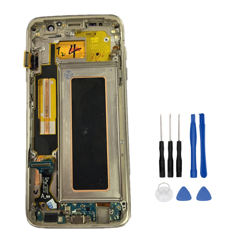 New Tested LCD With Frame For SAMSUNG GALAXY S7 Edge G935 G935F LCD Display Touch Screen Digitizer Assembly FHD+Tools