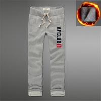 Anjoyfitch Kevin Af Winter Joggers 100 Cotton Thick Pants Full Length Embroidery
