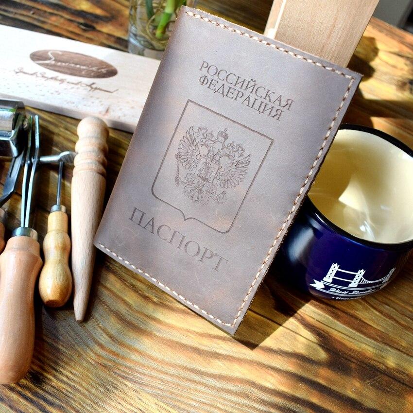 organizador titular carteira passaporte russo Leather Passport Cover : Genuine Leather Passport Cover