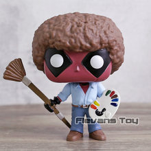Deadpool Como Bob Ross #319 Figura de Vinil Boneca Cabeça Grande Collectible Modelo Toy Presente(China)